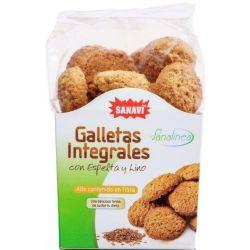 GALLETA INTEGRALES CON ESPELTA Y LINO 200 GR