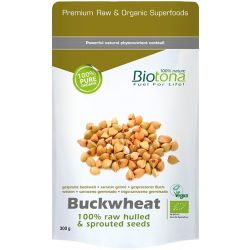 BIOTONA BUCKWHEAT RAW HULLED & SPROUTED SEEDS 300 GR