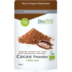 BIOTONA CACAO RAW POWDER 200 GR