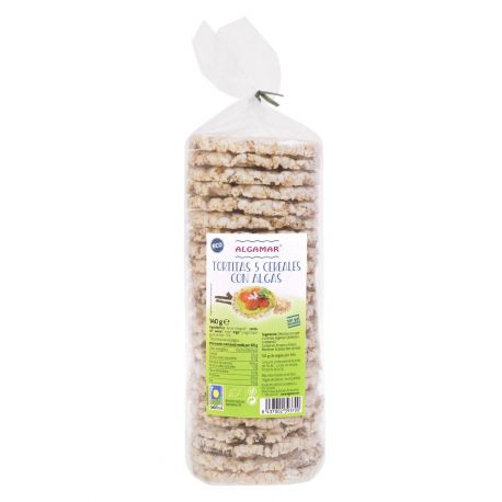 TORTITAS 5 CEREALES CON ALGAS 140 GR ECO