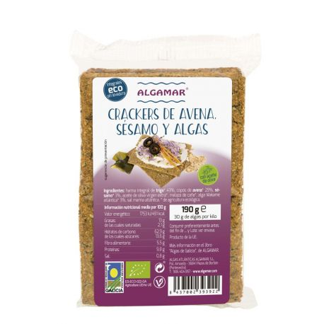 GALLETAS AVENA, SESAMO Y ALGAS 190 GR ECO