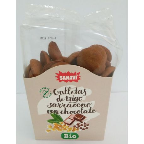 GALLETAS SARRACENO CON CHOCOLATE BIO 150 GR