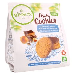 BISSON MINI COOKIES CHOCOLATE CON LECHE Y AVELLANAS