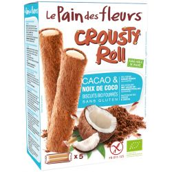 PAN DE FLORES CROUSTY ROLL CHOCO COCO 125 GR PVPR 4,49