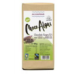 ALGAMAR CHOCOLATE NEGRO CON ALGA ULVA Y MENTA 100 GRS PVPR 3,74