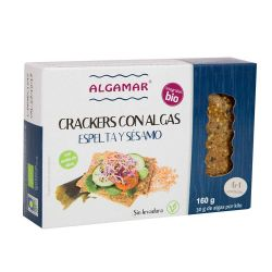 ALGAMAR CRACKERS ESPELTA,ARROZ,TOMATE,CHIA Y ALGAS 160 GR ECO PVPR 3,74