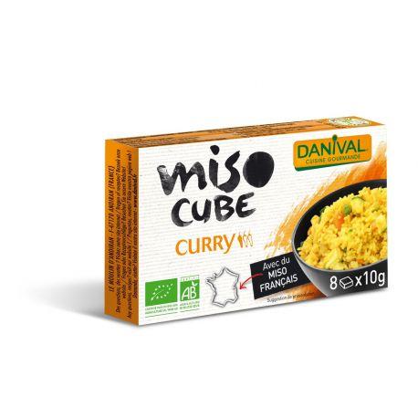 DANIVAL MISO EN CUBOS CURRY 8X10G