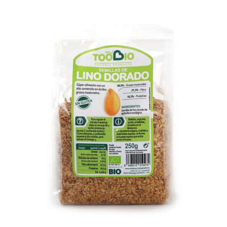 TOOBIO SEMILLAS LINO DORADO BIO 250 GR