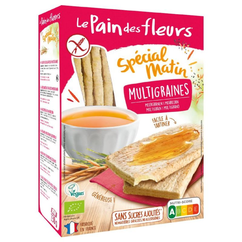 PAN DE FLORES SPECIAL MATIN MULTICEREALES 230 GR
