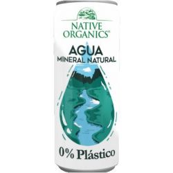 NATIVE ORGNICS AGUA MINERAL 0% PLASTICO 24X330 ML