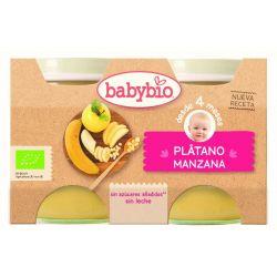 BABYBIO MANZANA PLATANO BIO 2X130 G