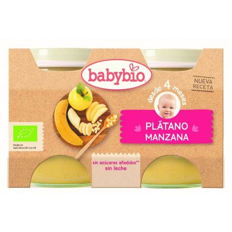 BABYBIO POTITOS MANZANA PLATANO BIO 2X130 G