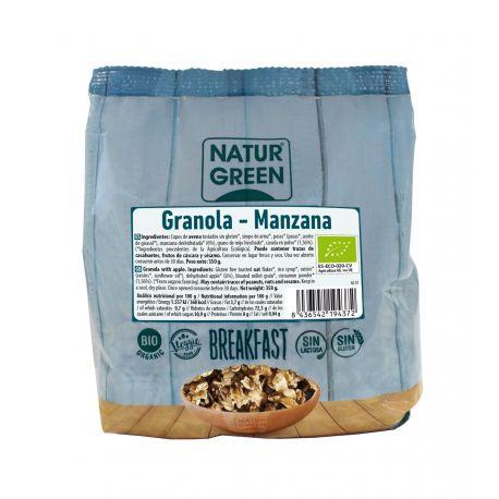 NATURGREEN GRANOLA MANZANA SIN GLUTEN BIO 350 G