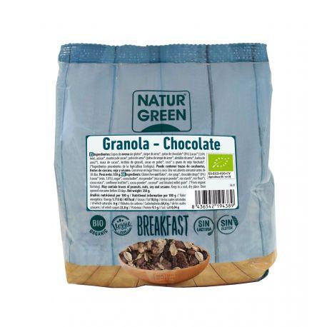 NATURGREEN GRANOLA CHOCOLATE SIN GLUTEN BIO 350 G