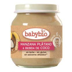 BABYBIO MANZANA PLATANO COCO 130 G