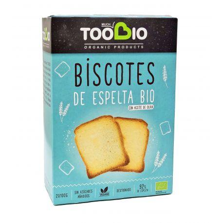 TOOBIO BISCOTE DE ESPELTA DEXTRINADO CON ACEITE DE OLIVA 200 G