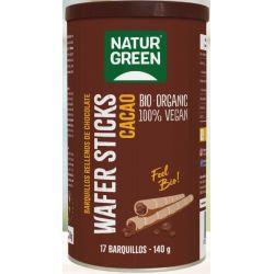NaturGreen Wafer Sticks Cacao Bio 140 g