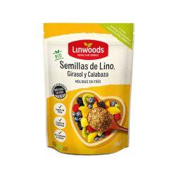 LINWOODS SEMILLAS DE LINO, GIRASOL Y CALABAZA MOLIDAS BIO 200 GR