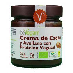 BEVEGAN CREMA DE CACAO Y AVELLANAS CON PROTEINA VEGETAL 200 GR