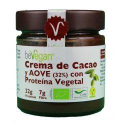 BEVEGAN CREMA DE CACAO Y AOVE CON PROTEINA VEGETAL 200 GR