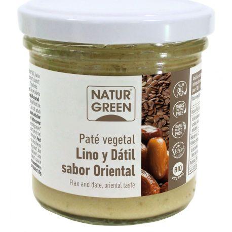 NATURGREEN PATE DE LINO Y DATIL SABOR ORIENTAL BIO 130 G