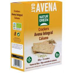 NaturGreen Crackers de Avena integral Cañamo Bio 200 gr
