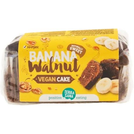 TerraSana Vegan Cake banana & walnut 350 gr