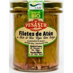 PESASUR FILETES DE ATUN (TARRO CRISTAL) 195 GR
