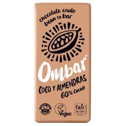 OMBAR CHOCOLATE COCO Y ALMENDRAS CRUDO BIO 70 G