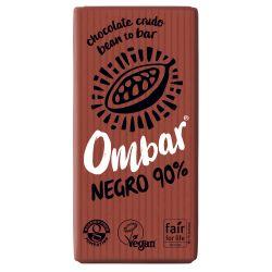 OMBAR CHOCOLATE NEGRO 90% CRUDO BIO 35 G