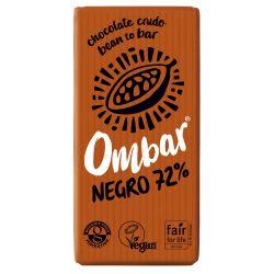 OMBAR CHOCOLATE NEGRO 72% CRUDO BIO 35 G