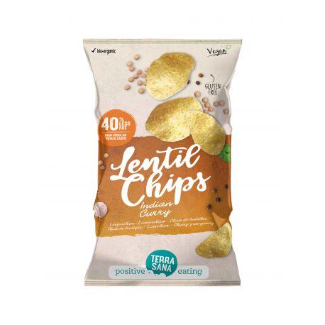 TERRASANA CHIPS DE LENTEJAS CON CURRY HINDU 75 G
